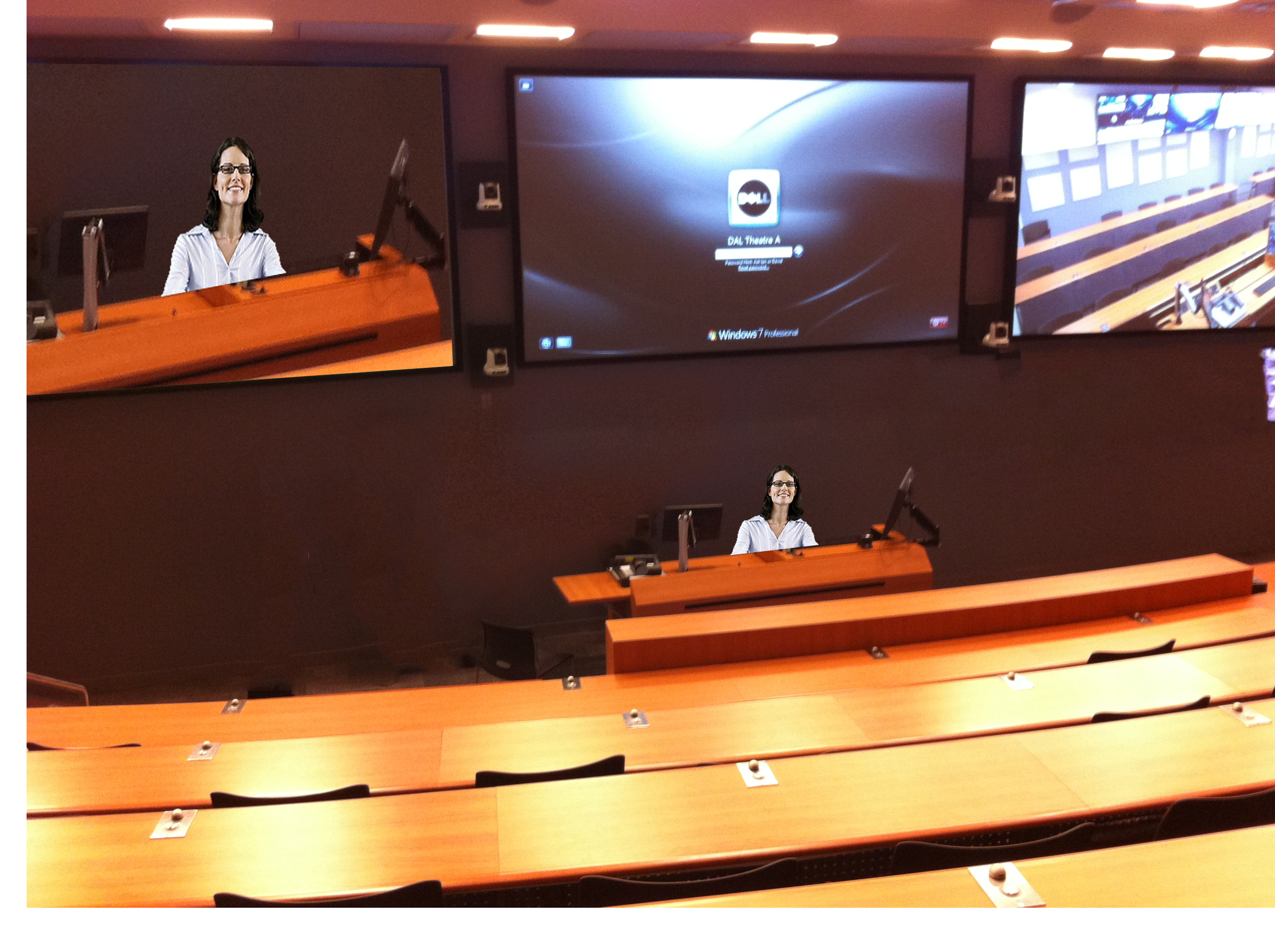 screens in the lecture room